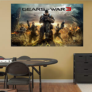 Gears of War 3: Game Cover Mural Fathead Wall Decal